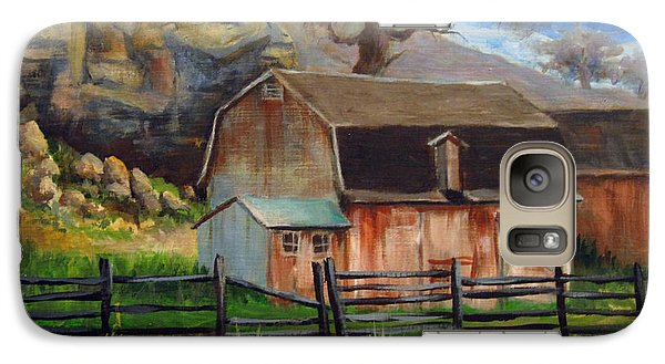 Galaxy Case featuring the painting Bellvue Barn by Carol Hart