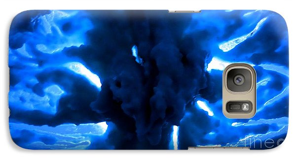 Galaxy Case featuring the mixed media Beneath The Ice by Steed Edwards