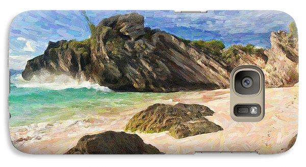 Galaxy Case featuring the digital art Bermuda Beach by Verena Matthew