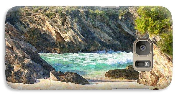 Galaxy Case featuring the photograph Bermuda Hidden Beach by Verena Matthew