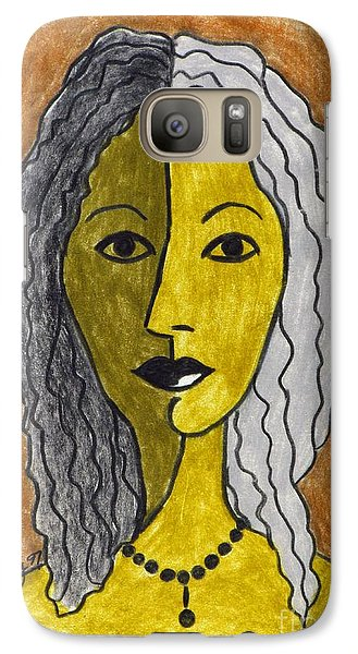 Galaxy Case featuring the drawing Betty Ruth by Joseph Sonday