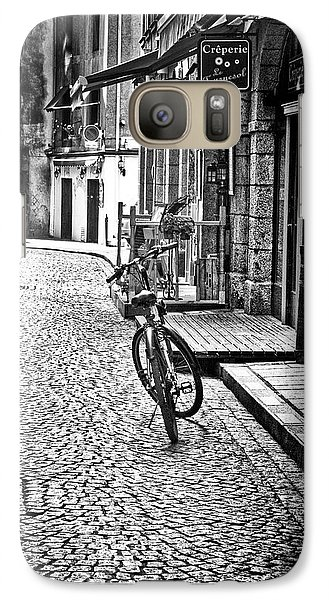 Galaxy Case featuring the photograph Bicycle And Sparrow 2  by Elf Evans