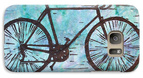 Galaxy Case featuring the drawing Bike 8 by William Cauthern