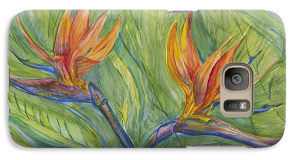 Galaxy Case featuring the painting Birds Of Paradise by Cathy Long