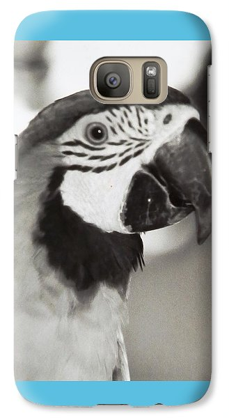 Galaxy Case featuring the photograph Black And White Parrot Beauty by Belinda Lee
