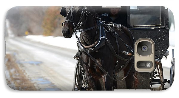 Galaxy Case featuring the photograph Black Beauty by Linda Mishler