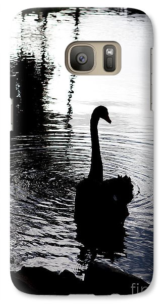 Galaxy Case featuring the photograph Black Swan by Roselynne Broussard