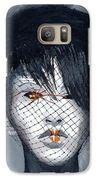 Galaxy Case featuring the painting Black Widow by Denise Deiloh