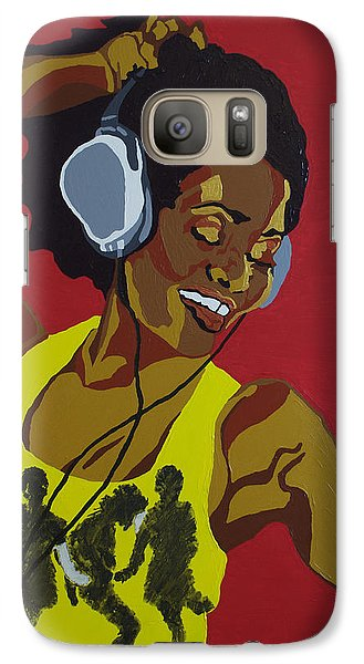 Galaxy Case featuring the painting Blame It On The Boogie by Rachel Natalie Rawlins
