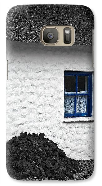 Galaxy Case featuring the photograph Blue Cottage Window by Jane McIlroy