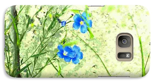 Galaxy Case featuring the photograph Blue Flower by Michael Dohnalek
