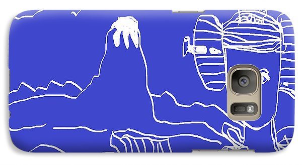 Galaxy Case featuring the painting Blue Geisha by Don Koester