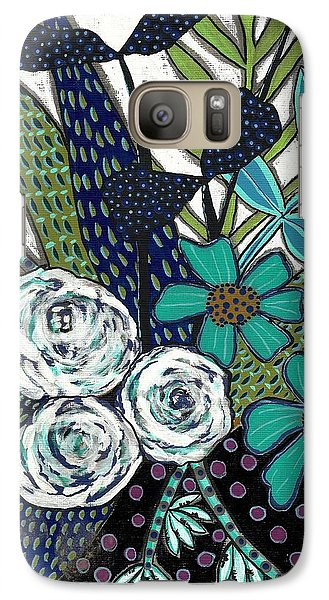 Galaxy Case featuring the painting Blue by Lisa Noneman