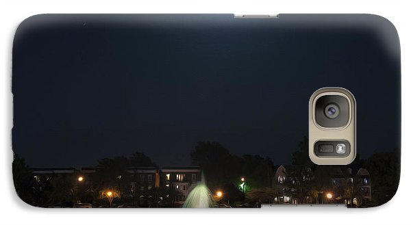 Galaxy Case featuring the digital art Blue Moon Over Fountain Lake by Kelvin Booker