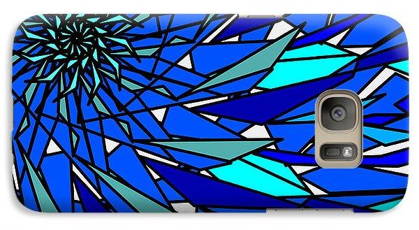 Galaxy Case featuring the digital art Blue Sun by Elizabeth McTaggart