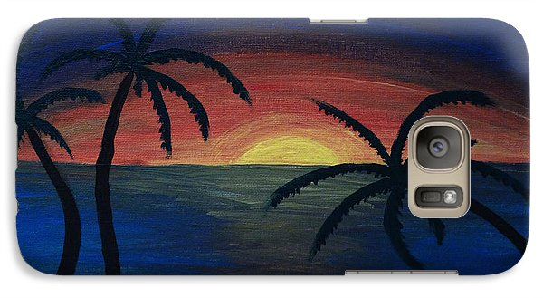 Galaxy Case featuring the painting Blue Tides by Arlene Sundby