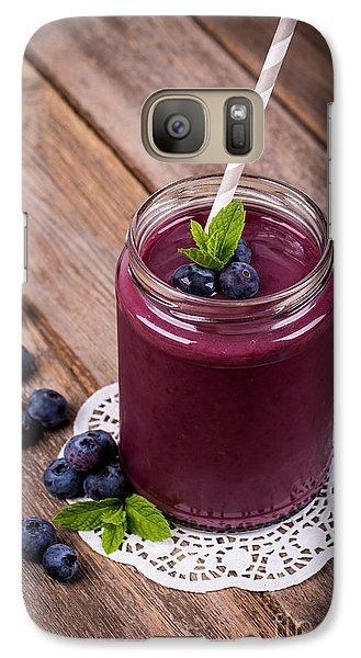 Blueberry Smoothie Galaxy S7 Case by Jane Rix