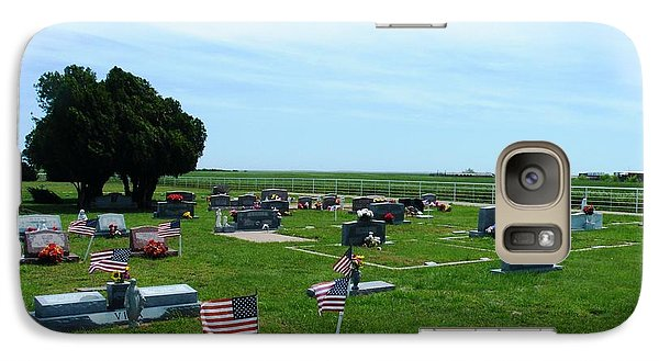 Galaxy Case featuring the photograph Bomarton Catholic Cemetery 2 by The GYPSY And DEBBIE