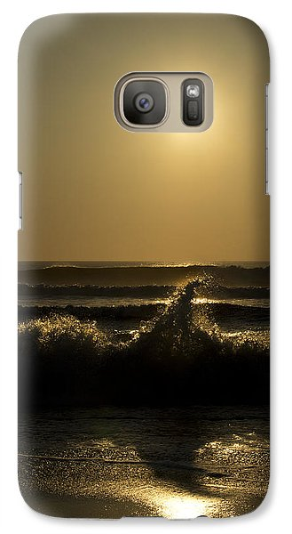 Galaxy Case featuring the photograph Breaking Waves by Skip Tribby