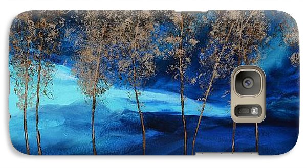 Galaxy Case featuring the painting Brewing Storm by Linda Bailey