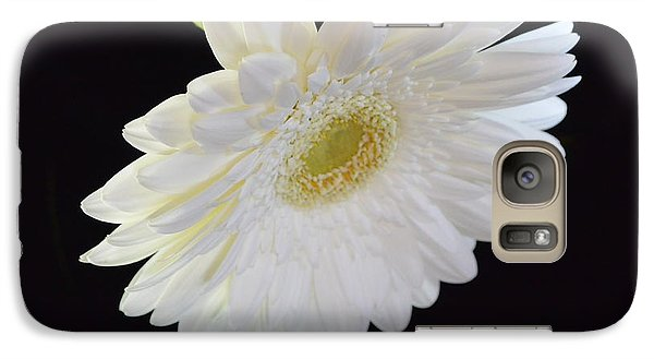 Galaxy Case featuring the photograph Bright White Gerber Daisy # 2 by Jeannie Rhode