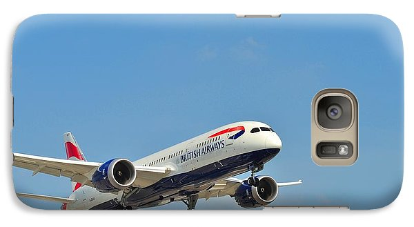 Galaxy Case featuring the photograph British Airways by Puzzles Shum