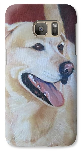 Galaxy Case featuring the painting Buddy by Sharon Schultz