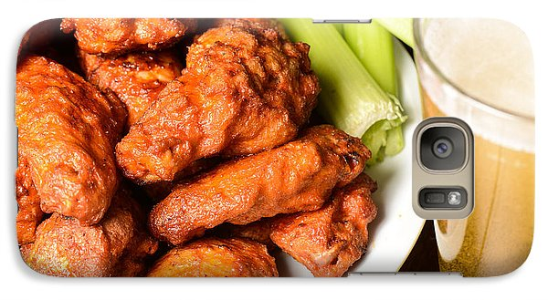 Buffalo Wings With Celery Sticks And Beer Galaxy S7 Case
