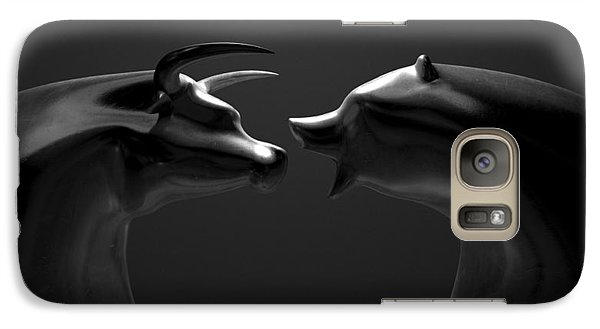 Bull And Bear Market Trend Bronze Castings Galaxy Case by Allan Swart