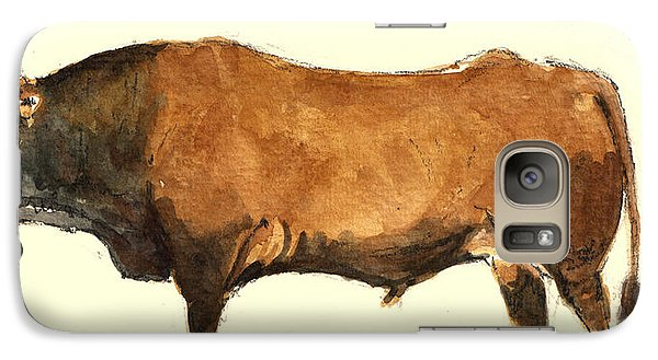 Bull Galaxy S7 Case - Bull by Juan  Bosco