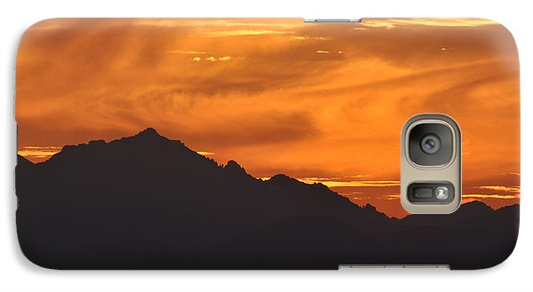 Galaxy Case featuring the photograph Burning Sky by Simona Ghidini