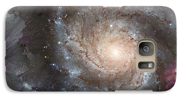 Cabbage With Galaxy And Pink Flowers Galaxy Case by Panoramic Images