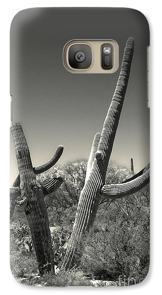 Galaxy Case featuring the painting Cactus by Gregory Dyer