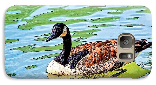 Galaxy Case featuring the photograph Canada Goose by Ludwig Keck