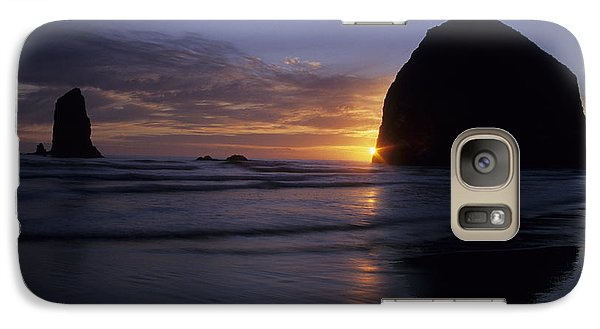 Galaxy Case featuring the photograph Cannon Beach Sunset by Chris Scroggins