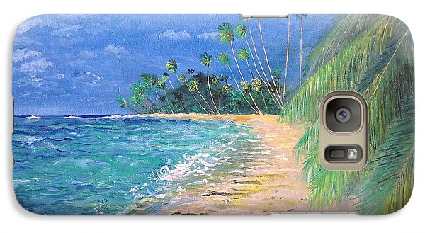 Galaxy Case featuring the painting Caribbean Landscape by Egidio Graziani