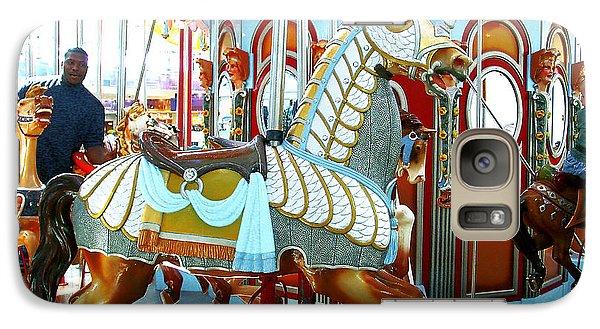 Galaxy Case featuring the photograph Carousel Horse by Merton Allen