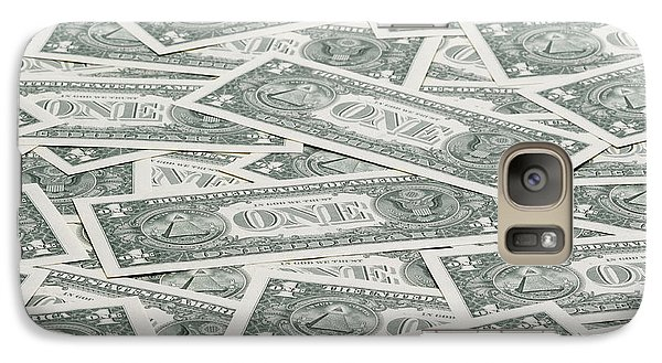 Galaxy Case featuring the photograph Carpet Of One Dollar Bills by Lee Avison