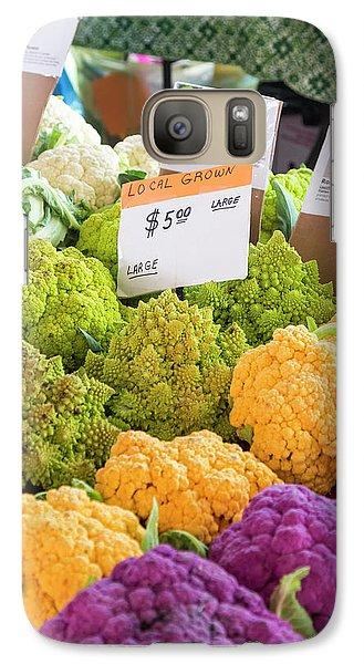 Cauliflower Market Stall Galaxy Case by Jim West