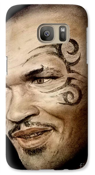 Galaxy Case featuring the drawing Champion Boxer And Actor Mike Tyson by Jim Fitzpatrick