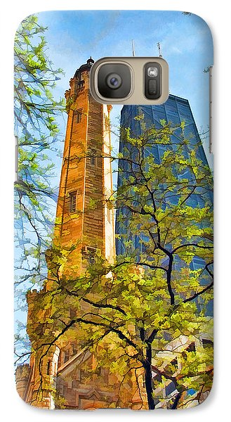 Chicago Water And Hancock Towers Galaxy S7 Case by Christopher Arndt