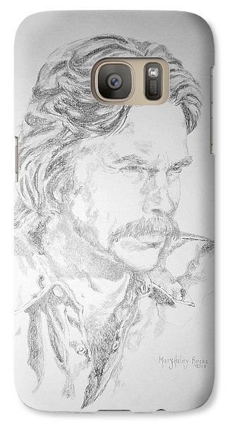 Galaxy Case featuring the painting Chip by Mary Haley-Rocks