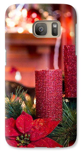 Galaxy Case featuring the photograph Christmas Candles by Patricia Babbitt