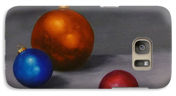 Galaxy Case featuring the painting Christmas Glow Greeting Card  by Jo Appleby