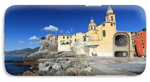 Galaxy Case featuring the photograph church in Camogli by Antonio Scarpi