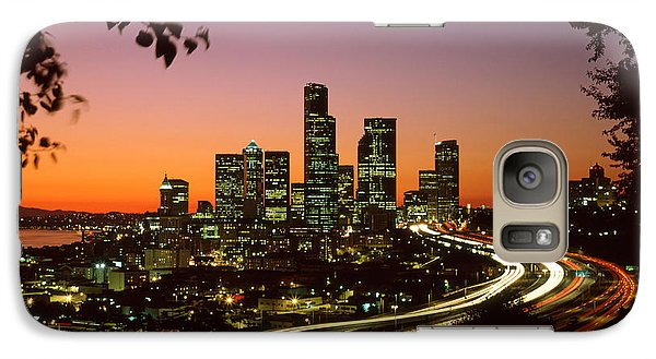 City Of Seattle Skyline Galaxy S7 Case by King Wu
