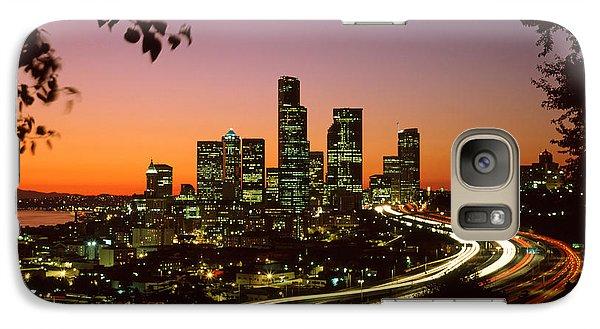 City Of Seattle Skyline Galaxy Case by King Wu