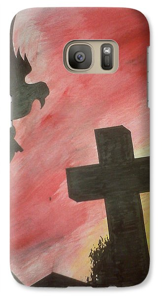 Galaxy Case featuring the painting City Undead by Justin Moore