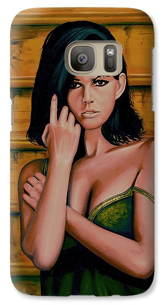 Claudia Cardinale Painting Galaxy S7 Case by Paul Meijering