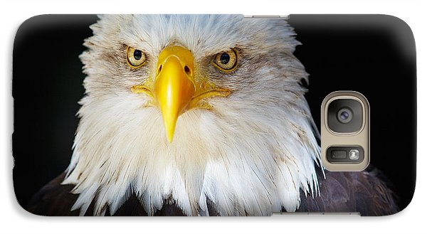 Galaxy Case featuring the photograph Closeup Portrait Of An American Bald Eagle by Nick  Biemans